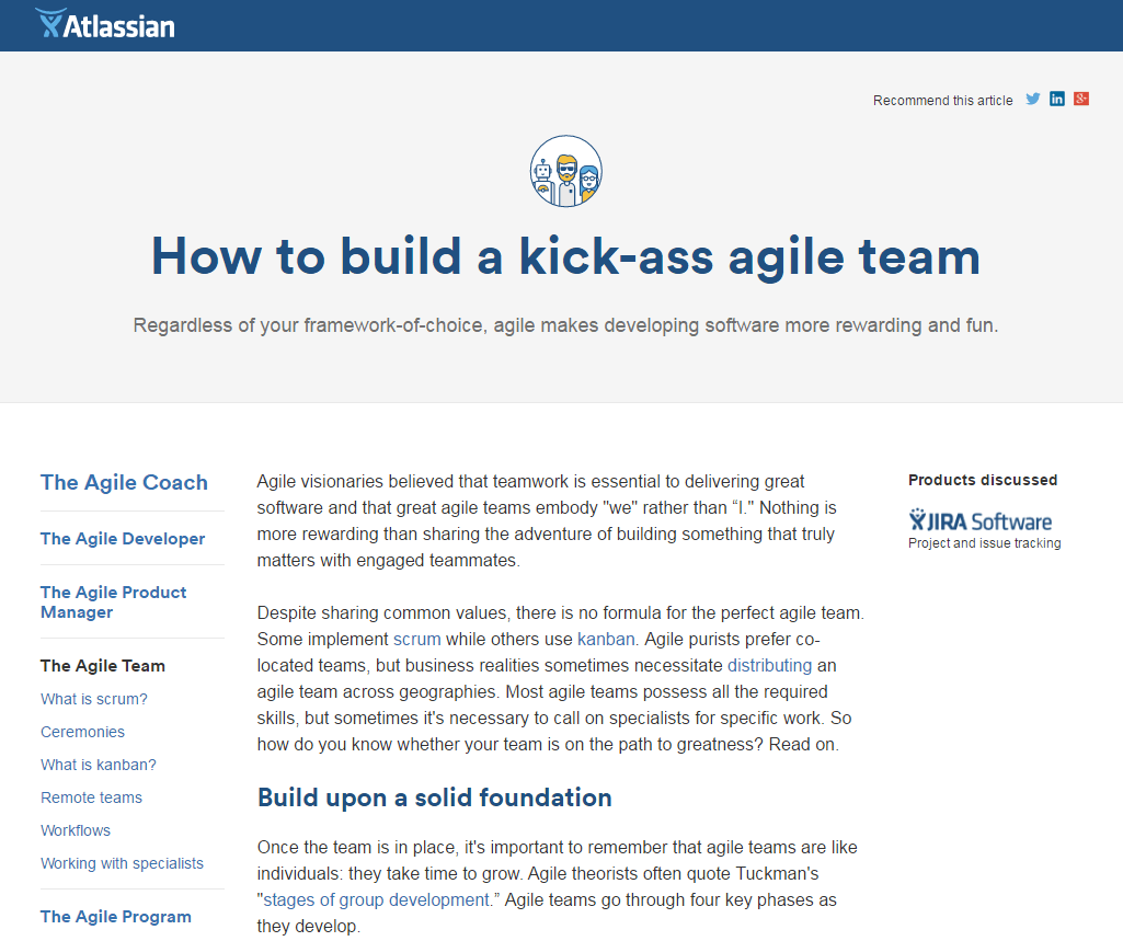Atlassian evergreen content example